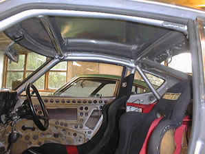 Datsun 240Z historic rally car during the build